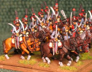 15mm, Napoleonic French Hussars (3rd) AB 12 Figures
